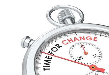 inspirerend: Tijd voor verandering. Stopwatch editie. Stockfoto