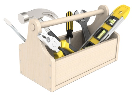 toolbox: Toolbox of wood  Miscellaneous Tools  Stock Photo