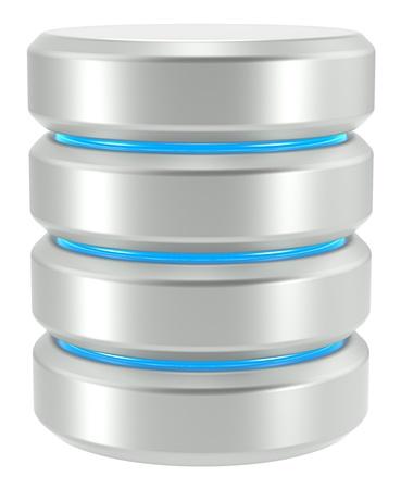 harddrive: Abstract Database Icon  Isolated on White background  Stock Photo