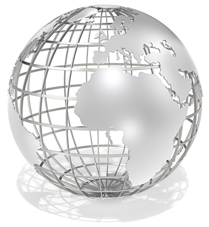 maps globes: The Earth, frame structure of steel  Shadow