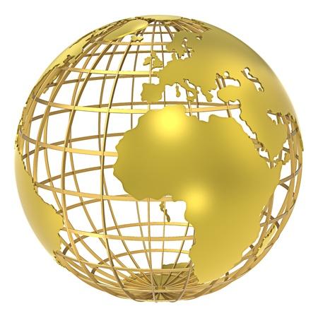 globo terraqueo: La Tierra, la estructura de la trama de la sombra del oro