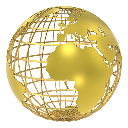 world globes: The Earth, frame structure of Gold  Shadow