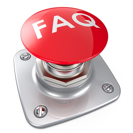 Red FAQ button    photo
