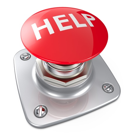 Red HELP button  photo