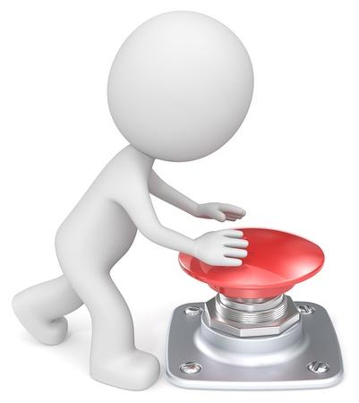 The Dude über den großen roten Knopf drücken.