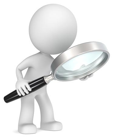 Suche The Dude holding Lupe Seitenansicht