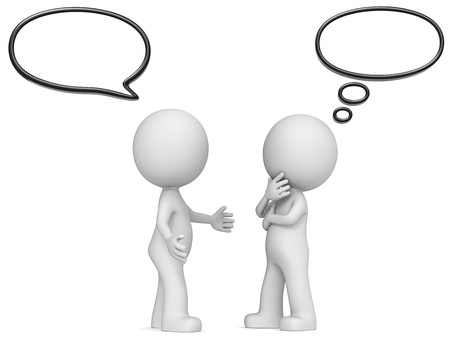 생각과 연설 × 2 야 생각을 의사 소통 및 음성 거품 거품