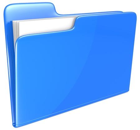 manila: Blue Folder  Open folder with papers  Blue