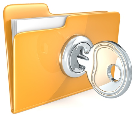 restricted: Folder with Key