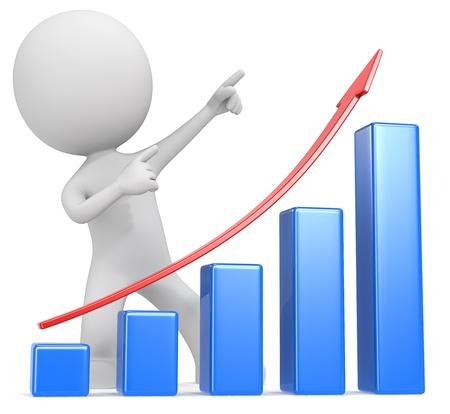 verhogen: De lat hoog The Dude Wijzend naar boven achterkant van Graph
