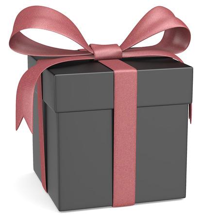 matte: Matte Black Gift Box   Stock Photo