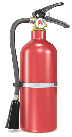 Fire Extinguisher  Classic red Fire Extinguisher  photo