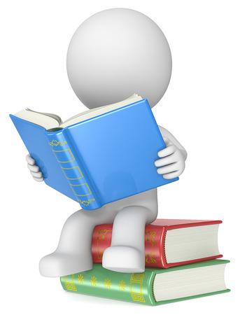 Literatur Geck sitzen auf Bücher, Lesen