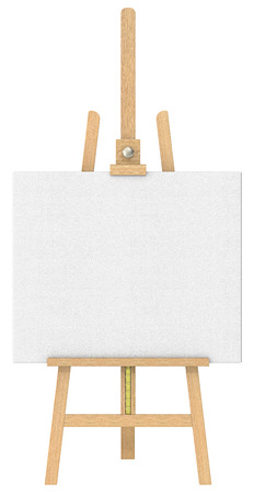 Easel and Canvas   Front view of an Easel and Canvas  Isolated  photo