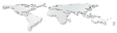 Weltkarte Frontansicht des Stahlweltkarte Breitbild