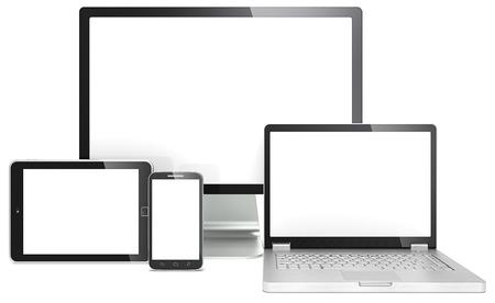 počítač: Reagovat Web Design Blank RWD pojem smartphone, notebook, obrazovka a počítač tablet Ne značkové Reklamní fotografie