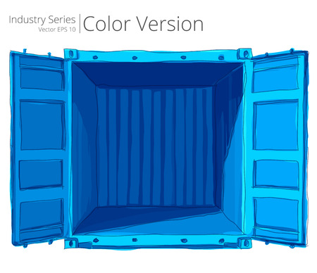 good color: Empty open Container. Vector illustration of empty container with good, Color Series.