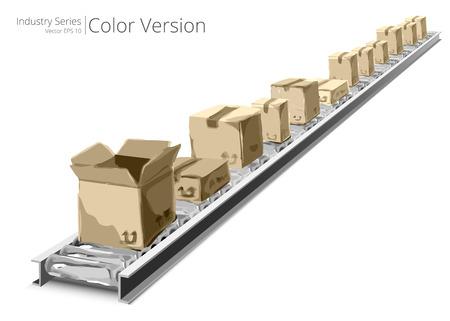 fliesband: Conveyor Belt. Vektor-Illustration von F�rderband, Farbe Serie.
