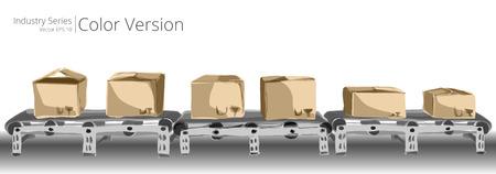 cinta transportadora: Ilustración del vector de la cinta transportadora, la serie de colores.