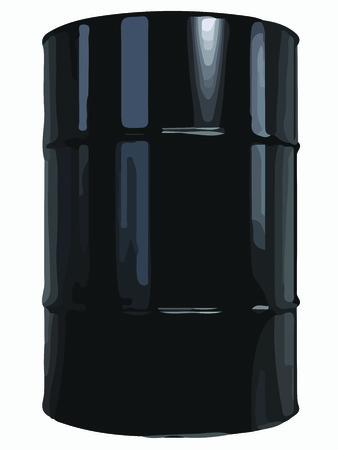 oil barrel: Black Oil Barrel. Vector illustration of Black Oil Barrel. Illustration