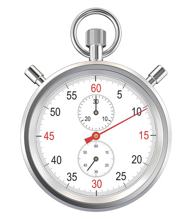 Isolated Stopwatch. Classic stopwatch. Isolated with Clipping path. Archivio Fotografico