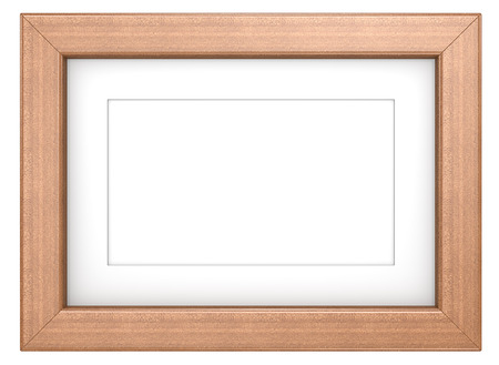 Mahogany picture frame. Wooden frame with Passepartout. Mahogany, isolated. photo