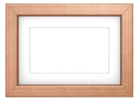 caoba: Marco de la caoba. Marco de madera con Passepartout. Caoba, aislado. Foto de archivo