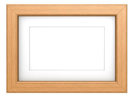 marco madera: Marco de la teca. Marco de madera con Passepartout. Teca, aislado.