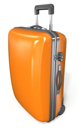 nouveaux articles magasin officiel nouveau sommet Suitcase. Moderne étui valise. Orange avec fermeture à glissière et  verrouillage.
