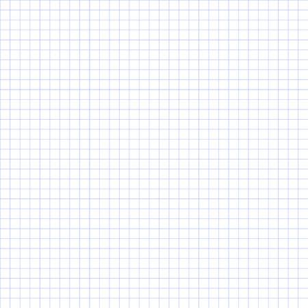 Naadloze raster papier. Grid papier elementaire pleinen. Blauw.