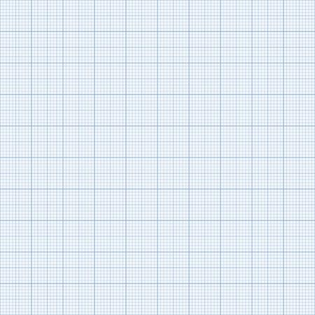 Seamless Graph paper. Blue Graph paper.  イラスト・ベクター素材