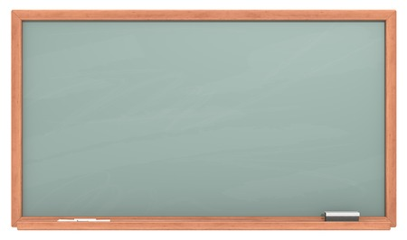 green chalkboard: Green Chalkboard. Blank chalkboard with wooden frame. Chalk dust surface. Copy Space.