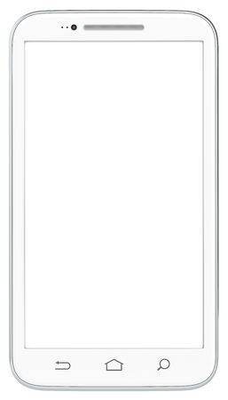 BRANDED: Smartphone. Classic White Smartphone. No Branded. Isolated. Stock Photo