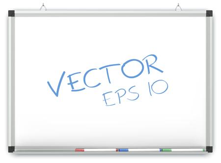 marker: Vector Pizarra. Pizarra en la pared con rotuladores. Copiar el espacio.