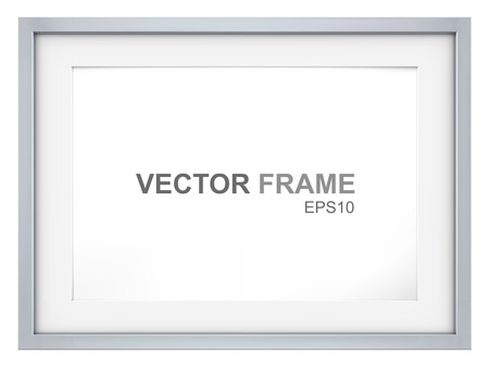 metal: Frame. Vector Picture Frame made of steel. Copy Space. Illustration