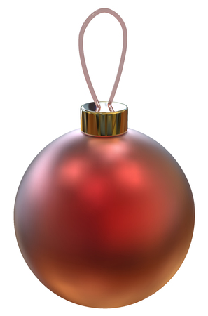 vector eps10: Classic isolated Red Christmas ball. Vector EPS10.