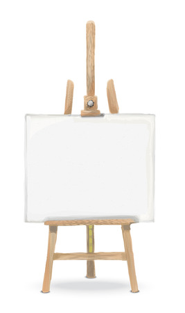 front view: Sketch Vector Easel and Canvas. Rough sketch Front view of an Easel and Canvas. Illustration