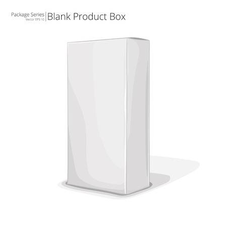 boxed: Blank Product Box. Abstract Product Package Box. Color series. Illustration
