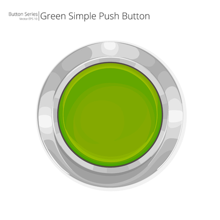 Green Push Button. Simple green push button.