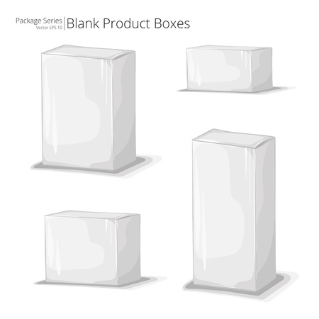 boxed: Package Boxes. Abstract set of Product Package Boxes in various sizes. Vector EPS10.