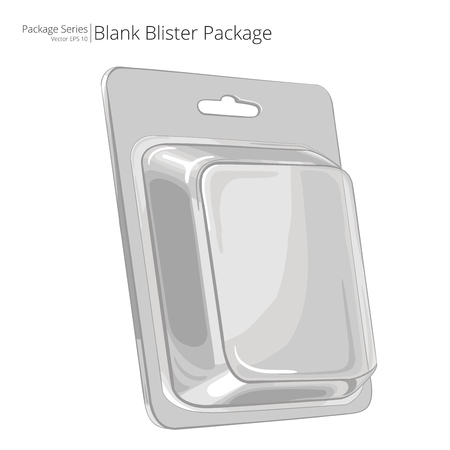 Blister Package. Illustration of a Blister Package. Sketch style. Packing series.