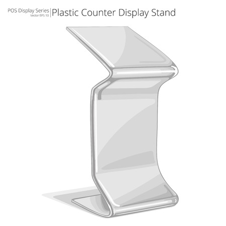 display stand: Counter Display Stand. Illustration of a Counter Display Stand. Sketch style. POS series.