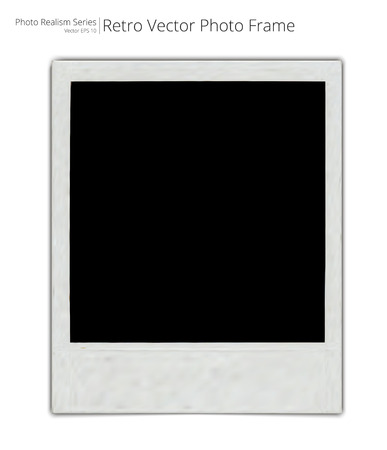 photo realism: Vector Retro Photo Frame. Photo Realistic Vector of Classic retro Photo Frame. Blank for Copy Space.