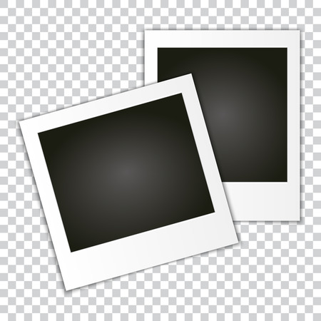 Set of Retro Photo Frame. Vector of Classic retro Photo Frame. 2 different Picture Sizes. Blank for Copy Space.