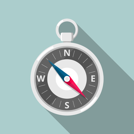 Flat Icon Compass. Flat Icon style Vector Illustration of a Compass.