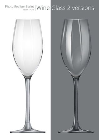 glass reflection: Wine Glass. Vector of Wine Glass. 2 different transparency and design.
