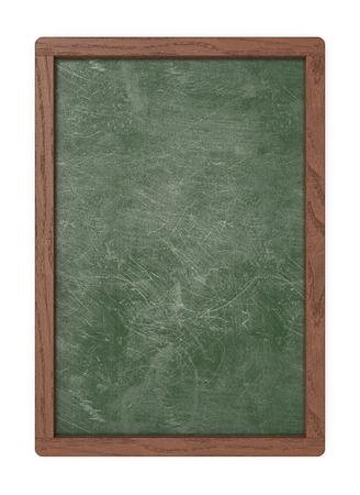 Groene lege raad. 3D render van een bord met donker houten frame. Gekrapte en versleten textuur. Blanco voor kopieerruimte.