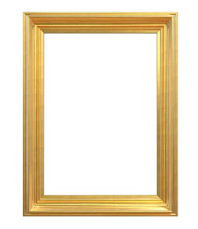Vintage gouden frame. 3D geef van Klassiek Uitstekend Gouden Frame terug. Geïsoleerd en leeg voor kopie ruimte.
