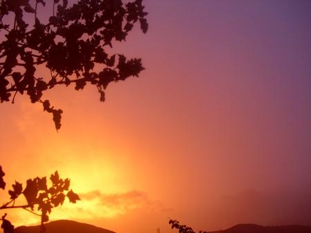 glow of twilight Stock Photo