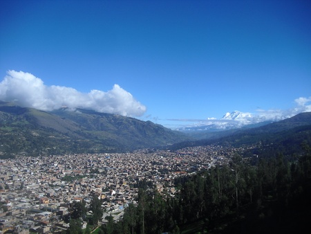 city Huaraz Ancash Peru